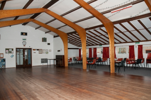 The hall, showing the carpetted are